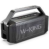 W-KING 60W Bluetooth Lautsprecher, Tragbarer Musikbox, Fantastischer Sound, Kraftvoller Bass, 40 Stunden Spielzeit, 12000 mAh Akku, mit TWS, NFC, TF-Karte, Kabelloser Wasserdicht Lautsprecher Box