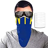 PAN JOY American Montana State Flag Sunscreen Face Towel, Neckband for Outdoor Cycling, Headband with Filter, Unisex 10x25in