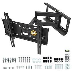 RICOO R23-S, Belastbare TV Wandhalterung Schwenkbar Neigbar, Universal 31-65 Zoll Curved-Bildschirm Fernseher-Halterung, max. 95Kg & VESA 400x400