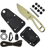 ESEE Desert Tan Izula Fixed Blade Knife w/Survival Kit