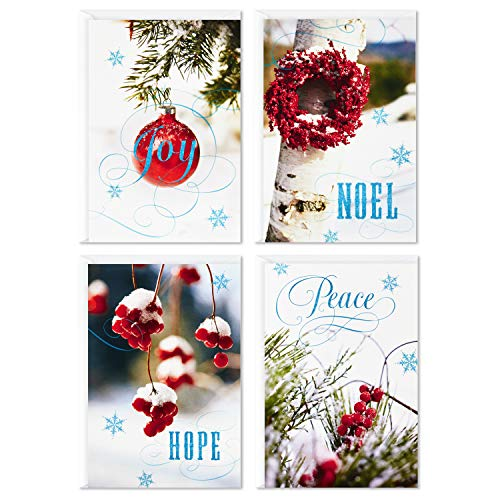 Image Arts Boxed Christmas Cards Assortment, Seasonal Photos (4 Designs, 24 Cards and Envelopes)