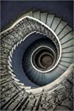 Posterlounge Cuadro de Aluminio 60 x 90 cm: Pretty Blue Staircase de Jaroslaw Blaminsky