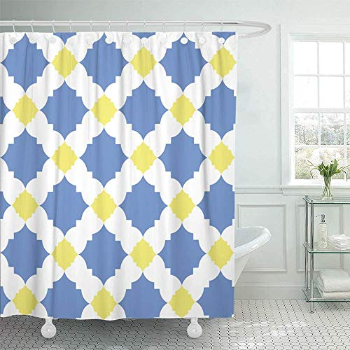 Water Repellent Heavy Duty Weighted Chevron Fabric Shower Curtains Bathroom 183 x 183 cm 72 x 72 Inch LinTimes Shower Curtain Mould Mildew Resistant Washable