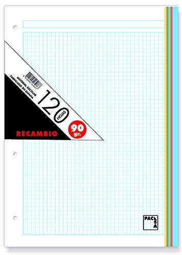 Pacsa 21180 - Recambio 90 g, A4, 120 hojas