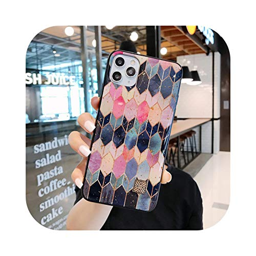 Carcasa de silicona para iPhone 11 Pro Xs Max SE XR X 6 6S 7 8 Plus con purpurina hermosa pluma suave casos Cover-D55-For i7 Plus i8 Plus