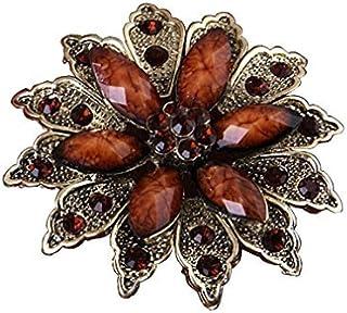 Bobury Broche de Cristal de la Vendimia Temperamento de Flores Nobles Bufandas Chal Pinza Pin Broche de Accesorios de Ropa...