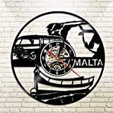 WERWN Reloj de Pared con Disco de Vinilo Regalo de decoración de Reloj de Pared Retro Europeo