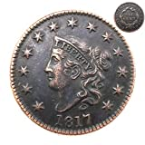 FKaiYin 1817 Antike Liberty One Cent Replik Old Coin American Lucky Old Coin - US Old Coins - Unzirulated Hobo Nickel USA Morgan Dollar Münze Future Experience -
