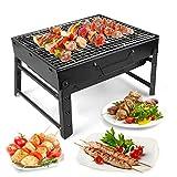 LBLA Barbecue Carbone Portatile, BBQ Pieghevole Griglia in Carbonio per Giardino Patio all'aperto...