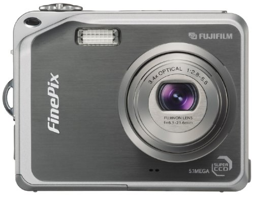 Fujifilm Finepix V10 5.1MP Digital Camera with 3.4x Optical Zoom (Gun Metal Grey)
