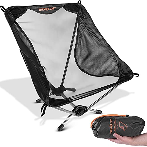 Ultralight Camping Chair, YIZI LITE 750g Hiking Backpacking Chairs Lightweight Camping Chair, Low & Small Ultralight Portable Folding Camping Chairs for Adults, Compact Chairs Foldable Collapsible