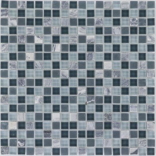 Combimozaïek tegels grijze wand vloer douche toilet keuken | 10 matten | Type: es-47857_f