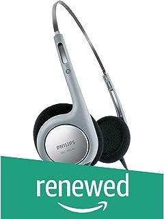 (Renewed) Philips Lightweight SBCHL140/00 On-Ear Headphone (Black)