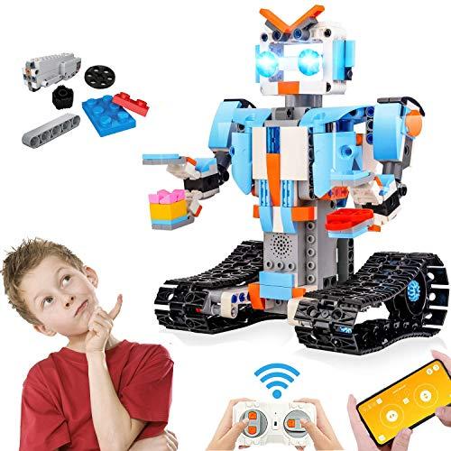anysun STEM Toys Kit Giocattoli, 351 Pezzo Educational Remote Control Set di Robot a Blocchi per Bambini per dagli 8 Anni in su, Ricaricabile Robotica Fai da Te Costruire Kit di Apprendimento