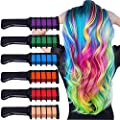 Runlong Hair Chalk, Temporary Hair Color Dye for Kids Girls, Cosplay, Halloween, Ball Party DIY Hair Style Highlight, Easy Dye and Wash Out, Gift for Kids