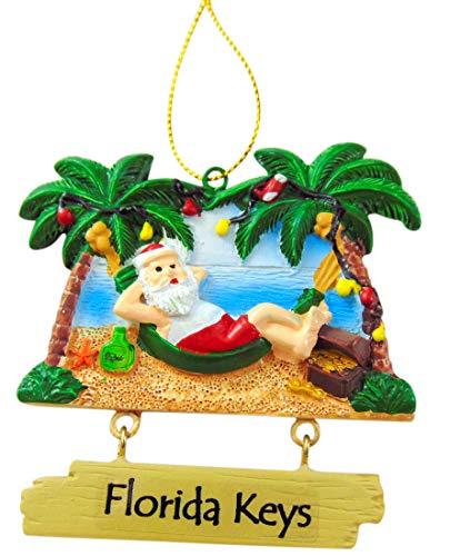 Westmon Works Florida Keys Ornament Souvenir Beach Santa in Hammock Christmas Tree Decoration