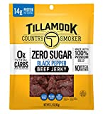 Tillamook Country Smoker Zero Sugar Black Pepper Keto Friendly Beef Jerky, 2.2 Ounce (Pack of 1)