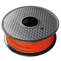 3Dプリンター用3Dプリントフィラメント1kg、1.75mm PETGフィラメント、さまざまなカラーオプション-オレンジ