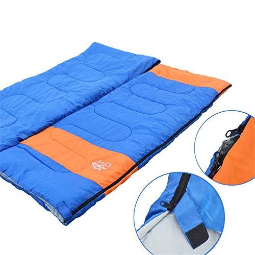 BABY Double Sac de Couchage Enveloppe rectangulaire Sac de Couchage, Facile à Transporter pour Les Adultes, Camping, randonnée