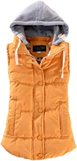 Howely Women's Casual Anoraks Hat Detachable Quilted Padded Vest