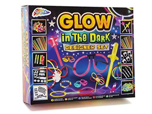 Grafix Kit de manualidades para niños y niñas, brilla en la oscuridad, regalo nuevo