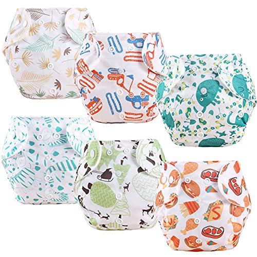 ElecMotive - 6 bragas de aprendizaje ajustable y lavables reutilizables para bebé o niña, de 1 a 3 años