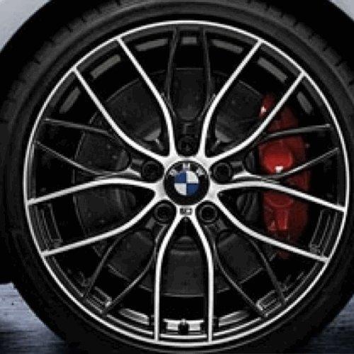 Original BMW Alufelge 1er F20 F21 M Doppelspeiche 405 Glanzgedreht in 19 Zoll für vorne