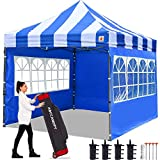 ABCCANOPY 3x3m Pop Up Gazebo With Sides Heavy Duty Gazebo Fully Waterproof Commercial Gazebo,Bonus Upgrade Roller Bag, 4 Weight Bags, Stakes and Ropes