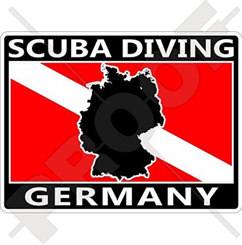 DUITSLAND SCUBA Duiken Vlag-Duitse Kaart Vorm 100mm (4