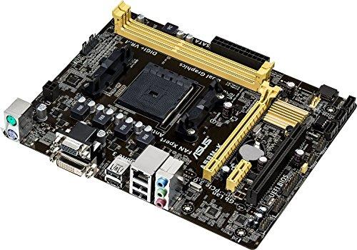 Asus A58M-K Mainboard Sockel FM2+ (ATX AMD A58, 2X DDR3 Speicher, 4X SATA II, 4X USB 2.0)