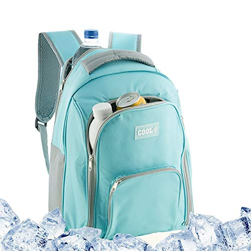GEEZY 12L Insulated Cooler Backpack Camping Picnic Rucksack Beach Ice Cooling Bag (Mint)