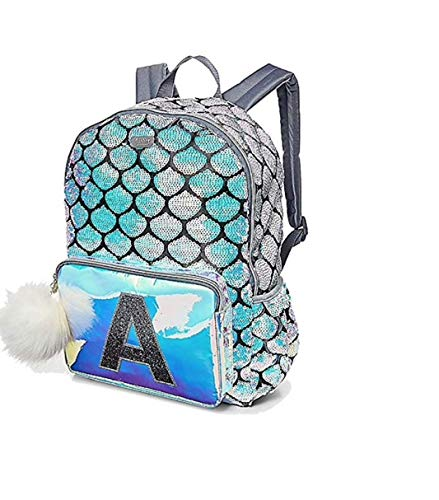 Justice Mermaid School Backpack Initial (Letter H)