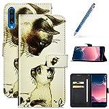 Robinsoni Custodia Compatibile con Samsung Galaxy A50 Case Portafoglio Galaxy A50 Cover Li...