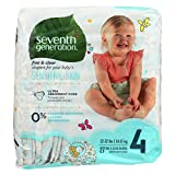 Seventh Generation Baby Free and Clear Diapers Stage 4: 22-37 lbs -- 27 Diapers by Seventh Generation