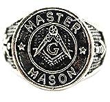 Inception Pro Infinite Anillo Maestro de albañil - Hombre - logia masónica - Maestro albañil - Equipo - brújula - g (es 19)