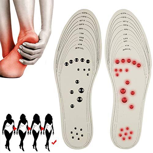 EEUK Massage Magnetische Einlegesohlen zum Abnehmen, Magnetische Einlegesohlen Akupressur, Magnettherapie Orthopädische Sohlen Insoles Gegen für Plattfüße, Plantarfasziitis, Fußschmerz