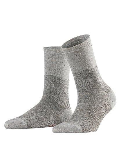 FALKE Damen Socken Led Line, Viskosemischung, 1 Paar, Grau (Silver 3290), Größe: 39-42