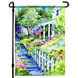 Home4Ever Patriotic Garden Flag - 12.5 x 18 Inch Double-Sided Printing American Flag Garden Flag - Premium Seasonal Welcome Banner and Outdoor Decor for House Porch, Lawn, Yard - Suits Standard Stands