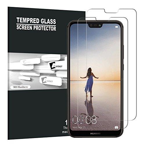Huawei P20 Lite Pellicola Protettiva, AVIDET Premium - Pellicola protettiva per Display in Vetro Temperato per Huawei P20 Lite (2...