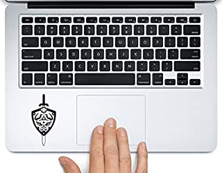 Zelda Sword and Shield Printed Trackpad Clear Vinyl Decal Sticker Compatible with Apple MacBook Pro Air 11
