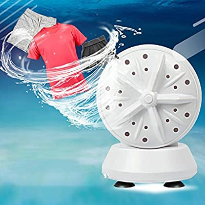 Mini Washing Machine Portable Ultrasonic Turbine Washer,Portable Washing Machine with USB for Travel Business Trip or College Rooms (Double Turbo 4-speed cycle)