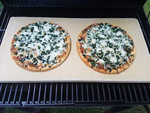 Pizzaplatte auf Maß- Wunschgröße kleiner als 60 x 30 x 3 cm Backofenplatte Brotbackplatte Pizzastein Brotbackplatte Flammkuchen Nachbearbeitet per Hand ohne scharfe Kanten (Backplatte, 60 x 30 x 3)