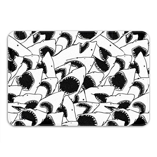NA Thème de fête de Requin Tapis de Bain Blanc drôle décor à la Maison mâchoires Urban Outfitters Appartement Tapis de Tapis antidérapant