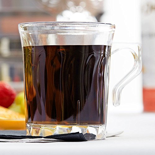 Elegante Tassen, Becher aus Hartplastik, für Kaffee oderTee, durchsichtig, 220ml, 8Stück