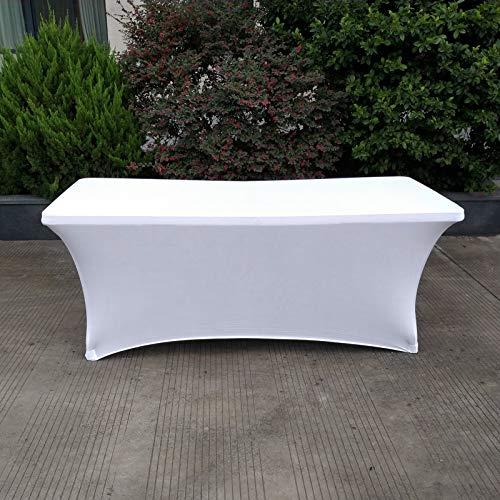 4FT Table de Couverture Rectangulaire Spandex Buffet Fête Mariage Décorations