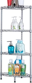 Store Bathroom Shelf for Upright Installation Stainless Iron Sink Shelf Bathroom Toilet Tripod Floor Standing Corner Frame...