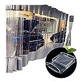 GGYMEI Lonas Impermeables Exterior Transparente Impermeable Engrosado CLORURO DE POLIVINILO Suave El Plastico Al Aire Libre Ventana A Prueba De Viento Balcón 13 Tamaños