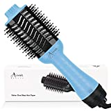 Hair Dryer Brush, Aima Beauty 4-in-1 Upgrade Hot Air Straightener Curler Function for Women, Blue
