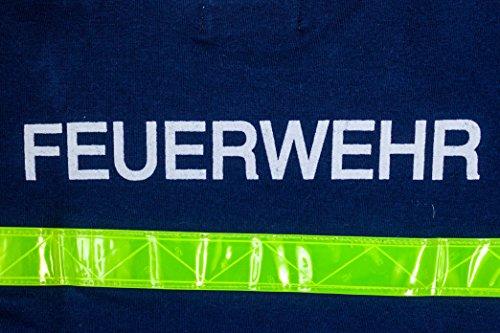 Schlafanzug Kinder Feuerwehrmann Größe 80 86 Blau Baumwolle Druck Feuerwehr Lang Gelbe Reflektoren Fairtrade Ringelsuse - 4
