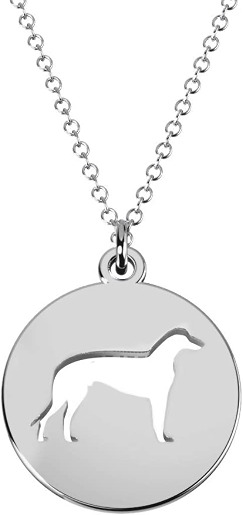 Max 59% OFF 10K Gold Greyhound Dog New item Cutout Disc by Necklace JEWLR